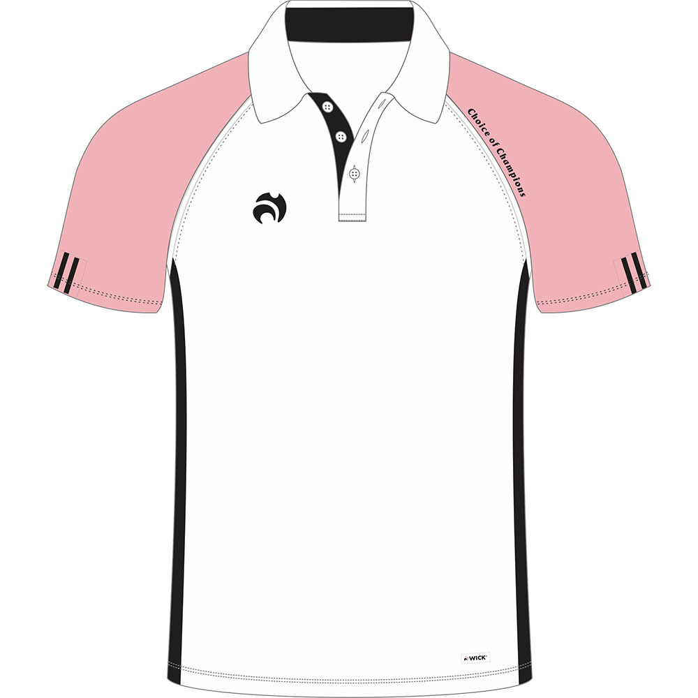 c4df8dff Shirts: Henselite C of C Polo Shirts White/Pink/Black - Cotswold ...